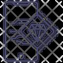 Mobile Premium Diamond Online Diamond Icon