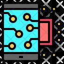 Mobile Screen Robotics Icon