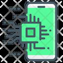 Artificial Intelligence Chip Processor Icon