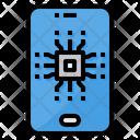 Mobile Processor Chip Icon