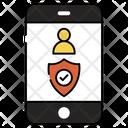 Mobile Profile Security Icon