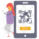 Mobile Qr Code Quick Response Code Barcode Icon