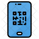 Qr Code Smartphone Scan Icon