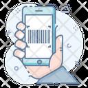 Mobile Qr Code Quick Response Code Matrix Barcode Icon