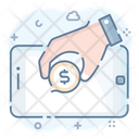 Mobile Recharging Mobile Finance Mobile Business Icon