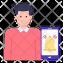 Mobile Reminder Icon
