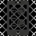 Mobile Graph Analytics Icon