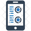 Mobile Graph Online Icon