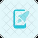 Mobile Rocket Online Startup Web Startup Icon