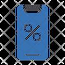 Mobile Sale Discount Tax Icon