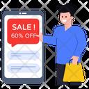 Online Sale Mobile Sale Discount Message Icon