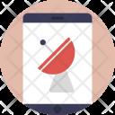 Mobile Satellite Networking Icon