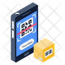 Mobile Scanning Parcel Scanning Barcode Scanning Icon