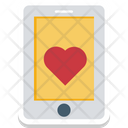 Mobile Screen Heart Sign Mobility Icon