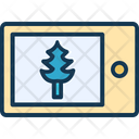 Mobile Mobile Screen Fir Tree Icon