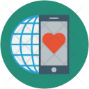 Mobile Screen Heart Icon