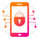 Mobile Security Cyber Icon