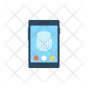 Mobile Security Fingerprint Icon
