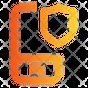 Mobile Security Mobile Shield Attack Icon