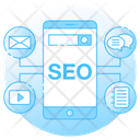 Seo Chat Seo Communication Finance Media Icon