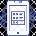 Mobile Database Mobile Hosting Server Mobile Network Server Icon