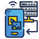 Mobile Server Connection Icon