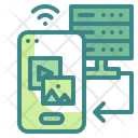 Mobile Server Connection Mobile Cloud Icon