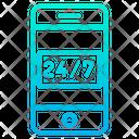 Mobile Service Hour Service Icon