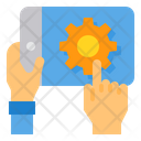 Smartphone Tablet Hand Icon