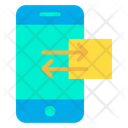 Mobile Share Data Sharing Icon