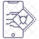 Mobile Shield Mobile Protection Phone Security Icon