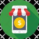 Mobile Dollar Shop Icon