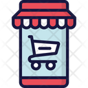 Mobile Shop Store Sales Icon