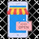 Mobile Shop Open Icon