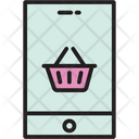 Mobile Shopping Shopping App Online Shopping Icon