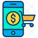 Mobile Online Shopping Shopping Icon