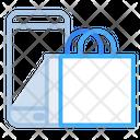 Mobile Shopping Online Shopping Shopping Bag Icon
