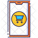Mobile Shopping Transaction Icon