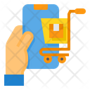 Mobile Shopping Online Cart Icon