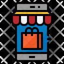 Mobile Shopping Phone Icon