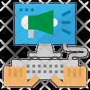 Marketing Monitor Computer Icon