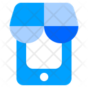 Mobile Shopping Mobile Phone Online Shop Icon