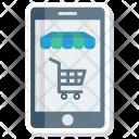 Mobile Shopping Cart Icon