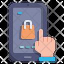 Mobile Shopping Ecommerce Icon