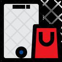 Mobile Shopping Mobile Bag Icon
