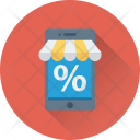 Mobile Shopping Discount Icon