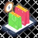 Mobile Shopping Icon