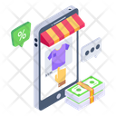 Online Shopping Mobile Shopping Ecommerce Icon