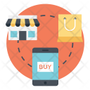 Online Shopping Mobile Icon