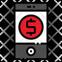Mobile Shopping Money Icon
